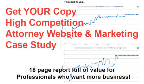 Get a Copy of the 18 Page Attorney Website and Marketing Study